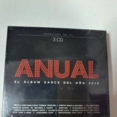 CDs de Música: ANUAL EL ALBUM DANCE DEL AÑO 2016, 3 CD, NUEVO SIN ESTRENAR PRECINTO ORIGINAL.. Lote 222597607