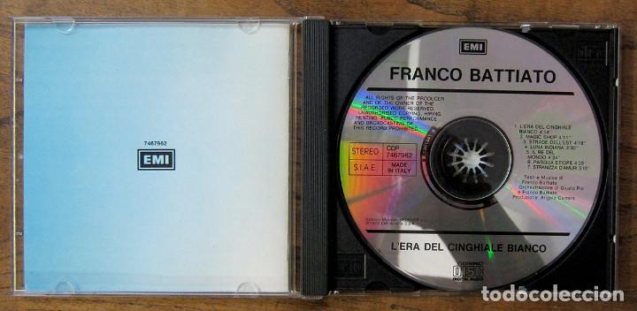 CDs de Música: FRANCO BATTIATO - LERA DEL CINGHIALE BIANCO (1979) - 1990 - EDICIÓN ITALIANA - Foto 2 - 222597795