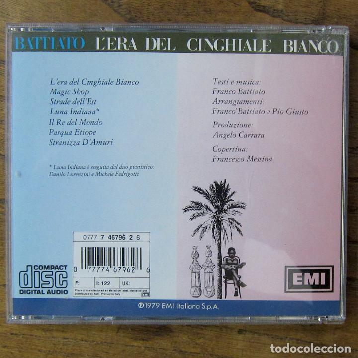 CDs de Música: FRANCO BATTIATO - LERA DEL CINGHIALE BIANCO (1979) - 1990 - EDICIÓN ITALIANA - Foto 3 - 222597795