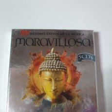 CDs de Música: 100 MEJORES ÉXITOS DE LA MÚSICA MARAVILLOSA, 5 CD, NUEVO SIN ESTRENAR PRECINTO ORIGINAL.. Lote 222604140