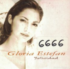 CDs de Música: GLORIA ESTEFAN - FELICIDAD / FAROLITO (CDSINGLE CARTON, SONY MUSIC 1996). Lote 222651738