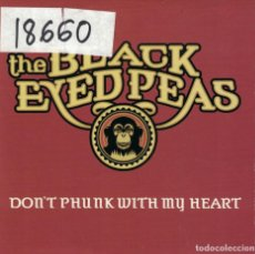 CDs de Música: THE BLACK EYED PEAS - DON'T PHUNK WITH MY HEART (TWO VERSIONS) (CDSINGLE CARTON, INTERSCOPE 2005). Lote 222653953