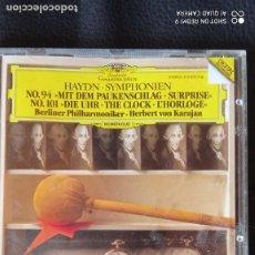 CDs de Música: HAYDN - SYMPHONIEN 94 Y 101. Lote 222654268