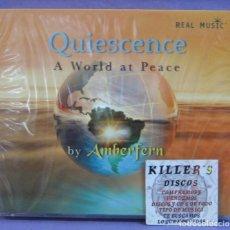 CDs de Música: QUIESCENCE - A WORLD AT PEACE - BY AMBERFERN - CD PRECINTADO. Lote 222658957