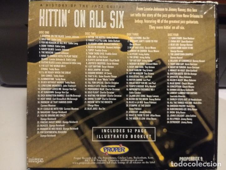 CDs de Música: 4 CD BOX : HITTIN ON ALL SIX ( STORY OF THE JAZZ GUITAR ) HERB ELLIS, AL CASEY, TEDDY BUNN, LES PAUL - Foto 2 - 222661531
