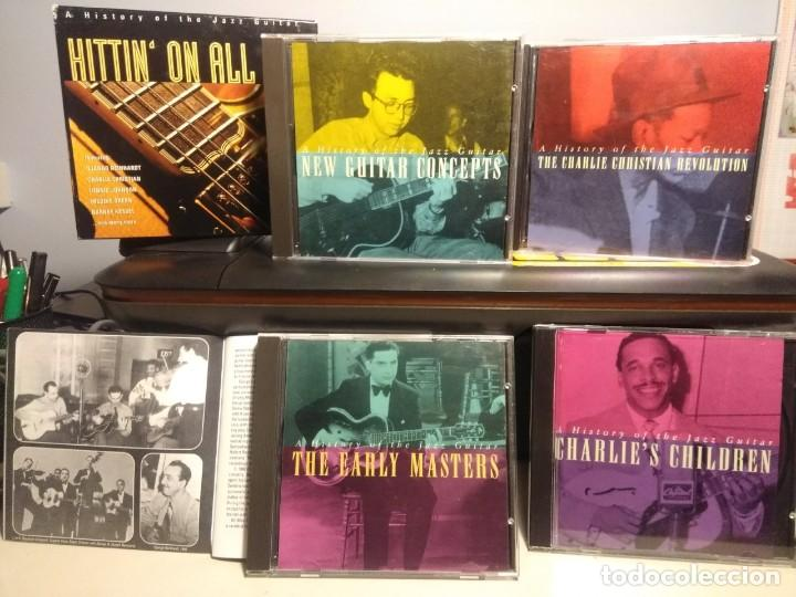 CDs de Música: 4 CD BOX : HITTIN ON ALL SIX ( STORY OF THE JAZZ GUITAR ) HERB ELLIS, AL CASEY, TEDDY BUNN, LES PAUL - Foto 3 - 222661531