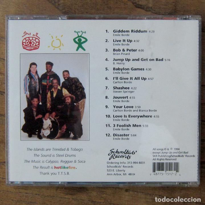 CDs de Música: TRINIDAD TRIPOLI STEEL BAND - HOT LIKE FIRE - 1994 - REGGAE, SOCA, CALYPSO - Foto 3 - 222667762