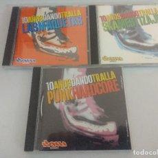 CDs de Música: CD PUNK/10 AÑOS DANDO TRALLA/LAS MAQUETAS/TRIPLE CD.. Lote 222670105