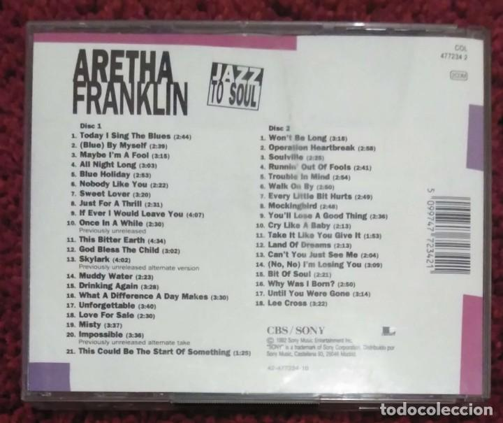 CDs de Música: ARETHA FRANKLIN (JAZZ TO SOUL) 2 CDs 1992 - Foto 2 - 222675581