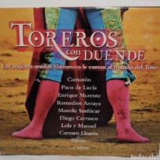 CDs de Música: CD - TOREROS CON DUENDE 0602498723883 - MANOLO SANLUCAR, ENRIQUE MORENTE, CAMARON, POTITO, P. LUCIA. Lote 222703141