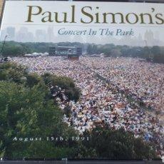 CDs de Música: PAUL S8MON SCONCERT IN THE PARK DOBLE CD. Lote 222717590