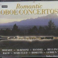 CDs de Música: ROMANTIC OBOE CONCERTOS - MOZART, ALBINONI, HANDEL.../ DOBLE CD / MUY BUEN ESTADO RF-8197. Lote 222725131