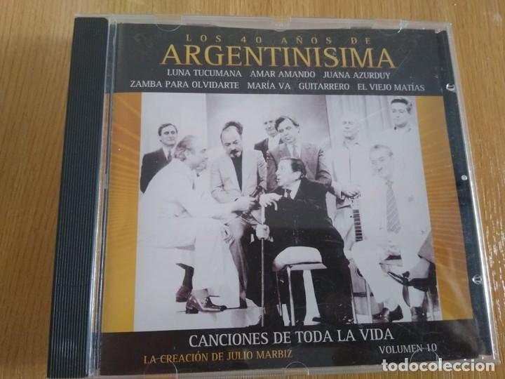 ARGENTINISIMA -CD 40 AÑOS VOL 10 -INTERPRETES VARIOS FOLKLORE ARGENTINO (Música - CD's World Music)