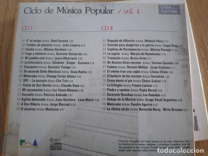 CDs de Música: MUSICA DE CUYO -INTERPRETES VARIOS Y DE REGALO CD DOBLE CICLO MUSICA POPULAR -FOLKLORE - Foto 3 - 222795707