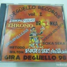 CDs de Música: DEGÜELLO RECORDS VOL I - MÉTODO MILTON, BOKA SEKA, THRONO, ETC.- CD - C 2. Lote 222812748