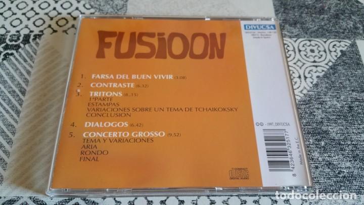 CDs de Música: CD FUSIOON Farsa del buen vivir DIVUCSA AÑO 1997 rock prog Spain - Foto 2 - 222817555