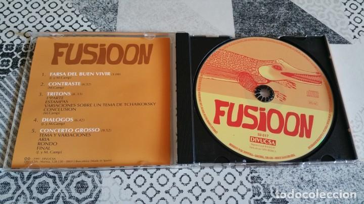 CDs de Música: CD FUSIOON Farsa del buen vivir DIVUCSA AÑO 1997 rock prog Spain - Foto 3 - 222817555