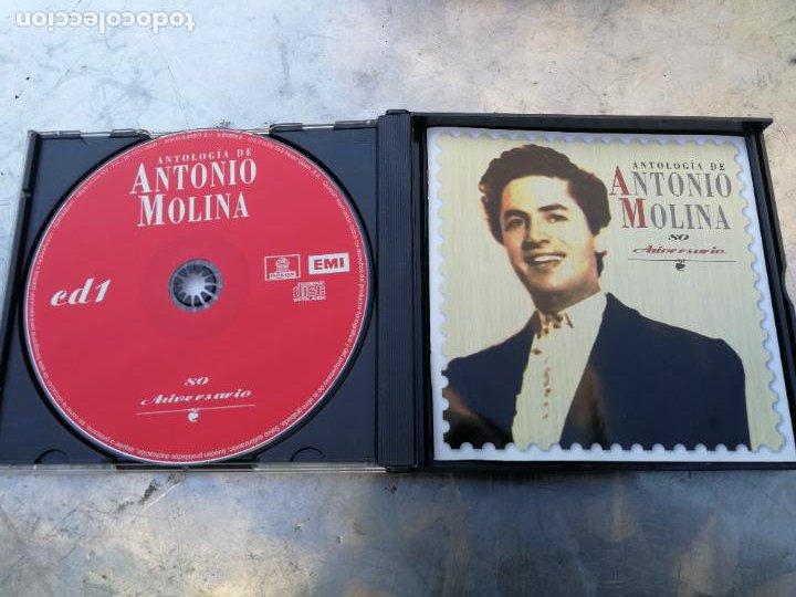 CDs de Música: ANTOLOGÍA DE ANTONIO MOLINA. 80 ANIVERSARIO 2CD CON SUS MEJORES CANCIONES+DVD CON ACTUACIONES DE TV - Foto 2 - 222853582