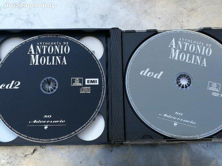 CDs de Música: ANTOLOGÍA DE ANTONIO MOLINA. 80 ANIVERSARIO 2CD CON SUS MEJORES CANCIONES+DVD CON ACTUACIONES DE TV - Foto 3 - 222853582