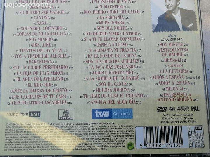 CDs de Música: ANTOLOGÍA DE ANTONIO MOLINA. 80 ANIVERSARIO 2CD CON SUS MEJORES CANCIONES+DVD CON ACTUACIONES DE TV - Foto 4 - 222853582