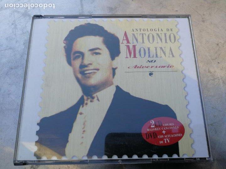 ANTOLOGÍA DE ANTONIO MOLINA. 80 ANIVERSARIO 2CD CON SUS MEJORES CANCIONES+DVD CON ACTUACIONES DE TV (Música - CD's Flamenco, Canción española y Cuplé)