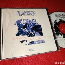 CDs de Música: PAT METHENY + B.B.KING + DAVE BRUBECK THE JAZZ MASTERS CD 1996 FOLIO. Lote 222918093