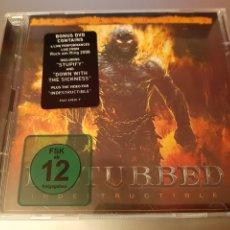 CDs de Música: DISTURBED. INDESTRUCTIBLE. CD + DVD. REPRISE. 9362-49820-9. L2. Lote 222922993