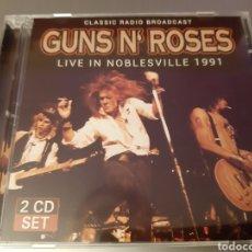 CDs de Música: GUNS N' ROSES. LIVE IN NOBLESVILLE 1991. 2CD'S. CLASIC RADIO BROADCAST. LM 948. L2. 2017.. Lote 222927262