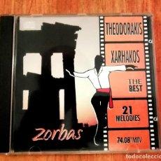 CDs de Música: THEODORAKIS XARHAKOS. THE BEST. 21 MELODIES. CD. Lote 222938313