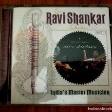 CDs de Música: RAVI SHANKAR - INDIA'S MASTER MUSICIAN. CD. Lote 222938571