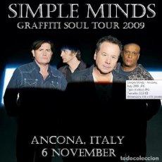 CDs de Música: SIMPLE MINDS - GRAFFITI SOUL TOUR 2009 - ANCONA, ITALY, 6 NOVEMBER 2009 (2CD). Lote 222950740