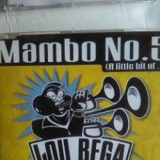 CDs de Música: LOU BEGA MAMBO Nº 5 4 VERSIONES CD SINGLE. Lote 222950765