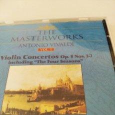 """CDs de Música: CD VIVALDI. CONCIERTOS DE VIOLIN OPUS 8 NUMEROS 1-7. INCLUYENDO """"LAS 4 ESTACIONES"""". Lote 222981473"""