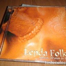 CDs de Música: LENDA FOLK -GALICIA 20 ANOS DE FOLK- CD MUSICA FOLK CELTA. Lote 223017551