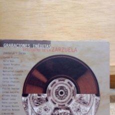 CDs de Música: GRABACIONES INÉDITAS DEL TEATRO DE LA ZARZUELA.4 CDES OPERA Y ZARZUELA. Lote 223056301