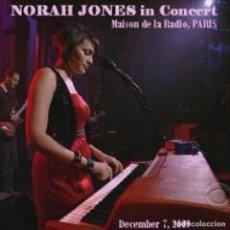 CDs de Música: NORAH JONES – LIVE IN PARIS, MAISON DE LA RADIO 2009 (CD). Lote 269143148