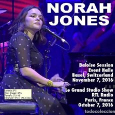 CDs de Música: NORAH JONES – BASEL - PARIS 2016 (2 CD). Lote 269143238