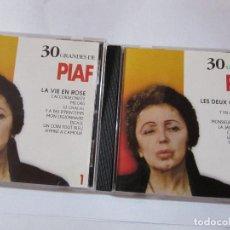 CDs de Música: PIAF LES DEUX COPAINS 30 GRANDES CD 1 Y 2. Lote 223291210