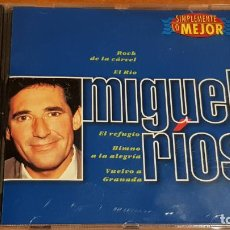 CDs de Música: MIGUEL RÍOS / SIMPLEMENTE LO MEJOR / CD - DISKY / 14 TEMAS / CALIDAD LUJO.. Lote 223319521
