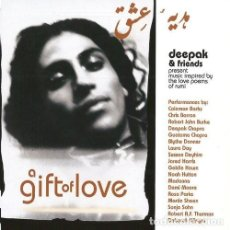 CDs de Música: A GIFT OF LOVE: DEEPAK & FRIENDS PRESENT MUSIC INSPIRED BY THE LOVE POEMS OF RUMI 2 CDS 64 PAGINAS. Lote 223329520