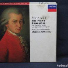 CDs de Música: MOZART, PHILHARMONIA ORCHESTRA, VLADIMIR ASHKENAZY - THE PIANO CONCERTOS - 10 CD. Lote 223370456