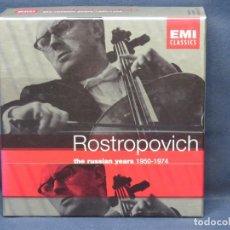 CDs de Música: ROSTROPOVICH - THE RUSSIAN YEARS 1950-1974 - 13 CD. Lote 223371123