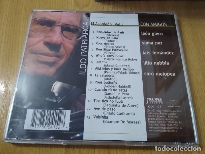 CDs de Música: ILDO PATRIARCA CD EL ACORDEON CON AMIGOS SUMA PAZ -LEON GIECO MUSICA ARGENTINA - Foto 2 - 223379408