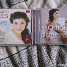 CDs de Música: CECILIA BARTOLI LOTE 2 CDS AN ITALIAN SONGBOOK Y SACRIFICIUM. Lote 223470546