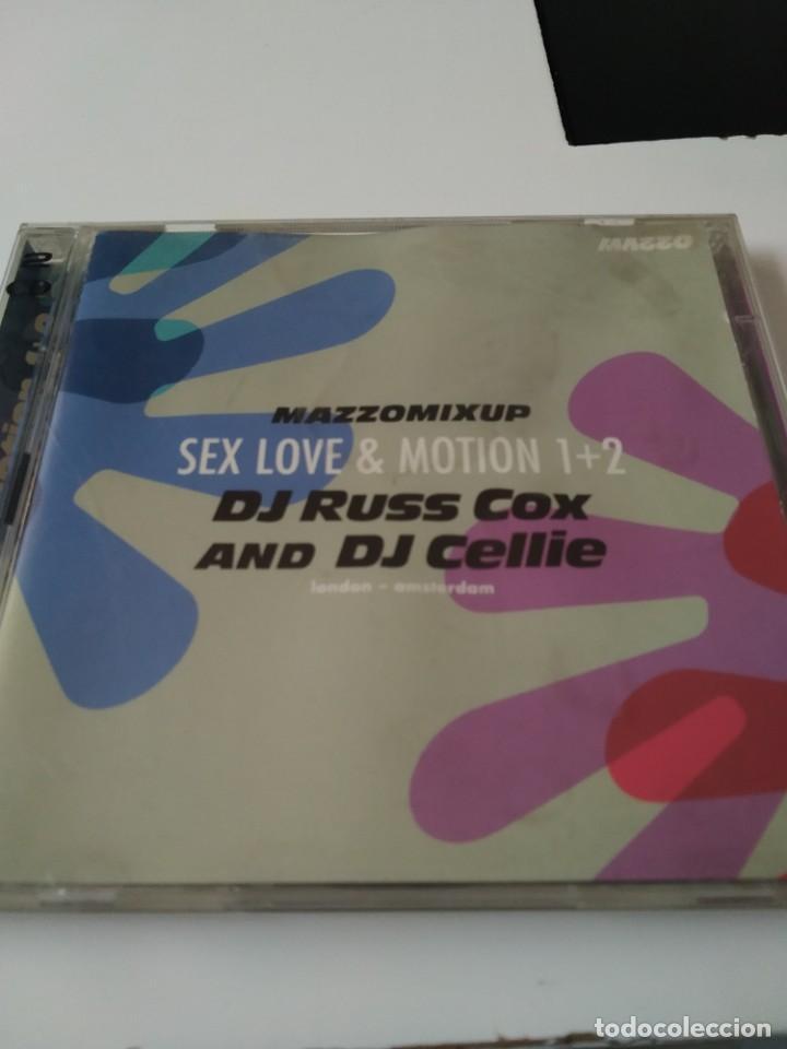DOBLE CD MAZZOMIXUP SEX LOVE & MOTION 1+2 DJ RUSS COX AND DJ CELLIE. ELECTRÓNICA (Música - CD's Techno)