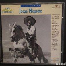 CDs de Música: CD LO MEJOR DE JORGE NEGRETE VIDA COTIDIANA Y CANCIONES BMG Nº19 PEPETO. Lote 223750275