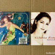 CDs de Música: LOTE 2 CD GLORIA ESTEFAN ALMA CARIBEÑA FELICIDAD SINGLE ALBUM NO ME DEJES DE QUERER. Lote 223870913