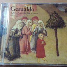 CDs de Música: 14-00197 - GESUALDO , SACRED MUSIC FOR EASTER. Lote 223937270