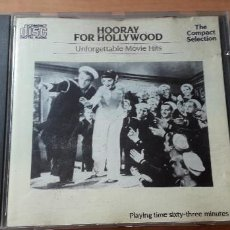 CDs de Música: 14-00199 - HOORAY FOR HOLLYWOOD, UNFORGUETTABLE MOVIE HITS. Lote 223937470