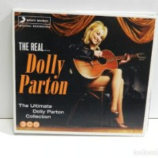 CDs de Música: DISCO 3 CD. THE REAL... - THE ULTIMATE DOLLY PARTON COLLECTION. COMPACT DISC. TRIPLE.. Lote 223943357